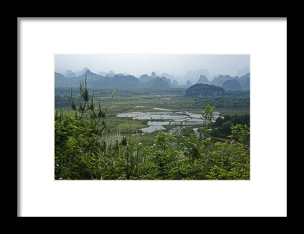 Asia Framed Print featuring the photograph Karst Landscape of Guangxi by Michele Burgess