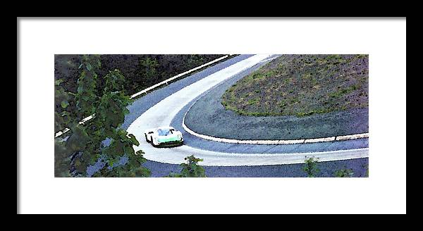 Automobile Framed Print featuring the photograph Karussell Porsche by Alan Olmstead