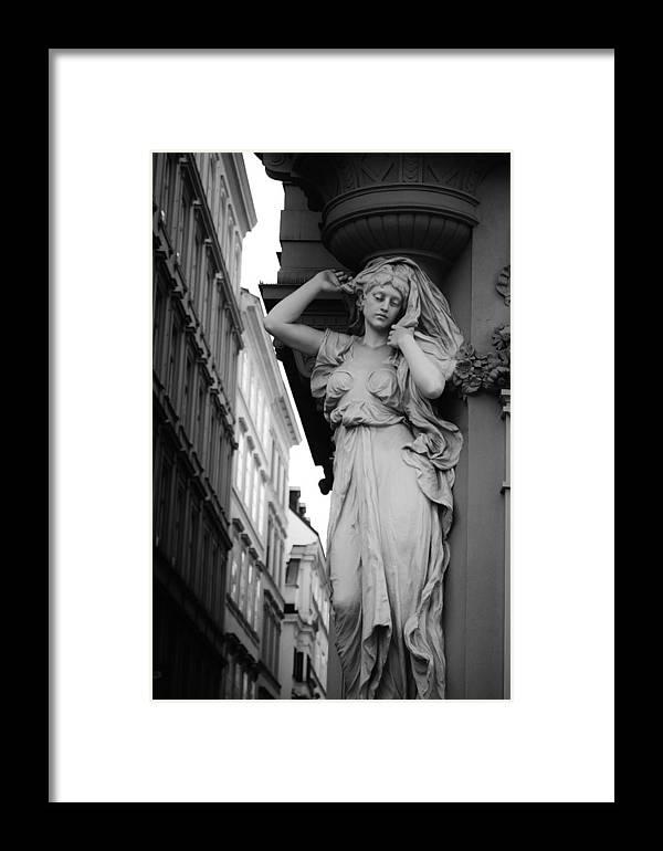 Austria Framed Print featuring the photograph Karyatide Niedergeschlagenheit by David Broome