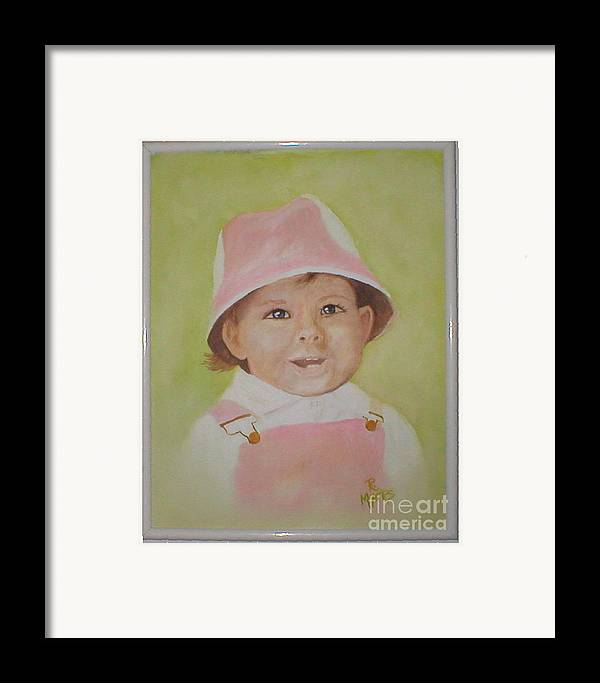 Portraits Framed Print featuring the painting Kasey by Rhonda Myers