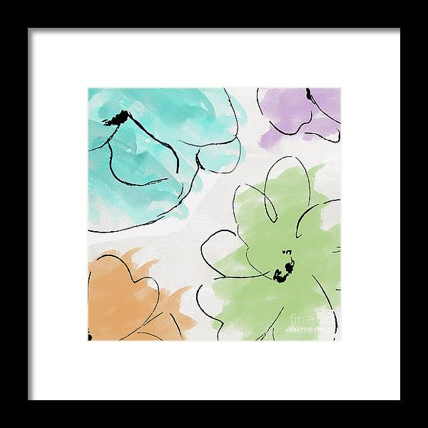 Abstract Framed Print featuring the painting Kasumi by Mindy Sommers