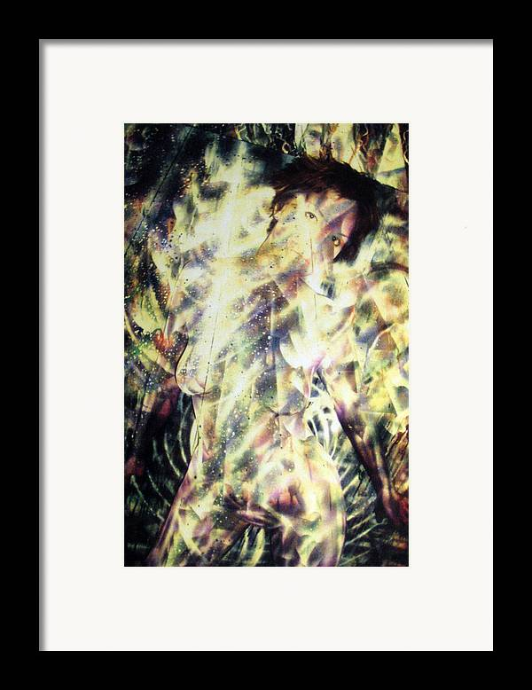 Painting Framed Print featuring the painting Kat Glows by Leigh Odom