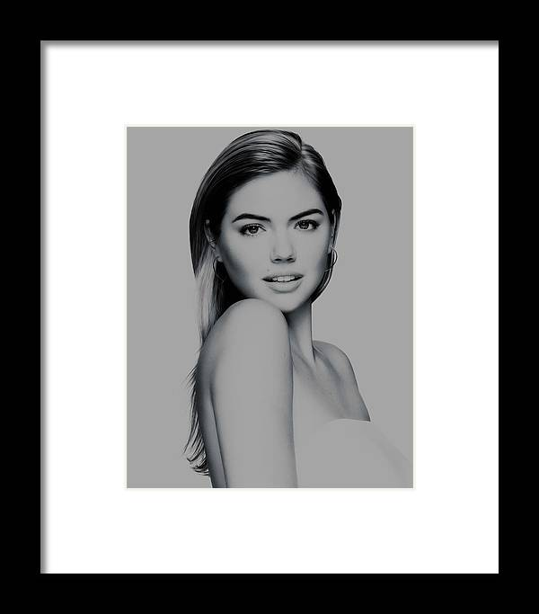 Kate Upton Framed Print featuring the mixed media Kate Upton 17 by Brian Reaves
