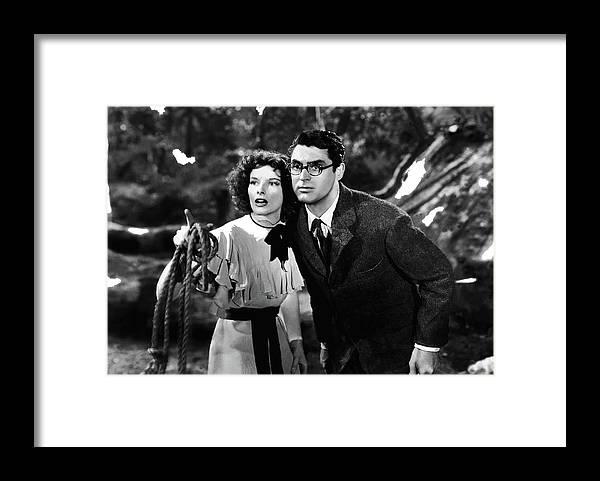 Katharine Hepburn Cary Grant Bringing Up Baby 1938-2015 Framed Print featuring the photograph Katharine Hepburn Cary Grant Bringing Up Baby 1938-2015 by David Lee Guss