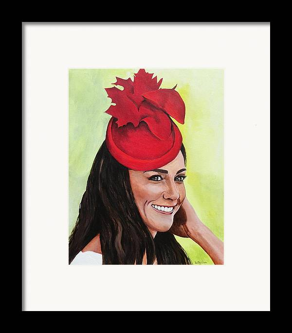 British Royalty Framed Print featuring the painting Katherine Duchess Of Cambridge by Betty-Anne McDonald