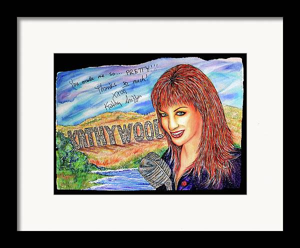 Actress Framed Print featuring the mixed media Kathywood by Joseph Lawrence Vasile