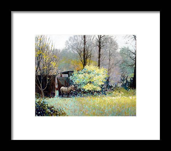 Donkey Framed Print featuring the painting Katrina by Kevin Lawrence Leveque