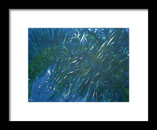 Palm Framed Print featuring the painting Kauai Night by Adrian Simpson