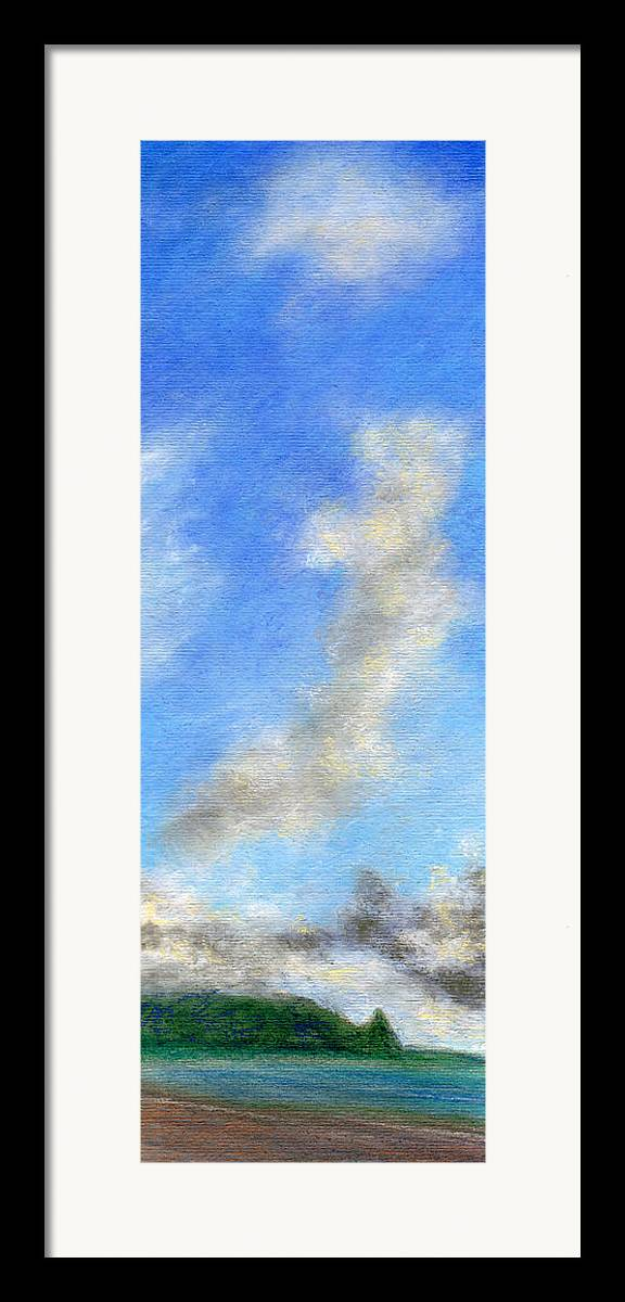 Coastal Decor Framed Print featuring the painting Kauapea Evening by Kenneth Grzesik