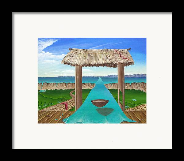 Surreal Painting Framed Print featuring the painting Kava Flow by Sharon Ebert
