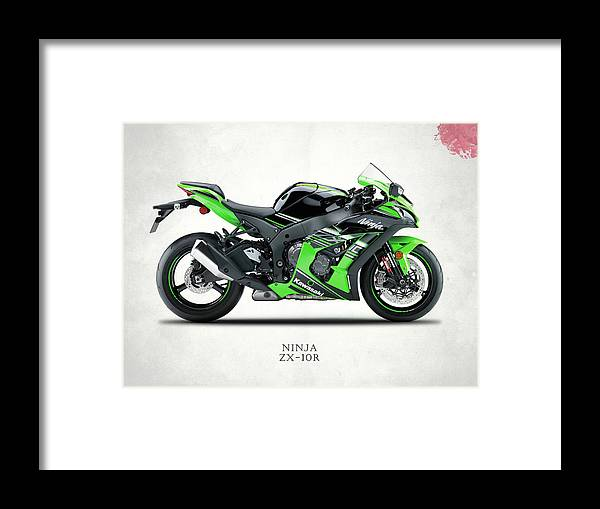 Kawasaki Ninja Zx-10r Framed Print by Mark Rogan