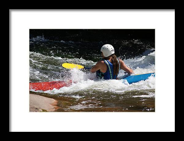 Outdoor Framed Print featuring the photograph Kayaking The Brule by Ron Read