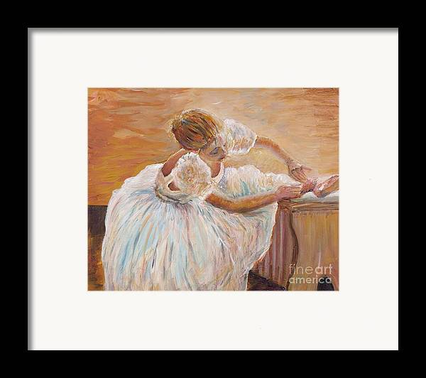Dancer Framed Print featuring the painting Kaylea by Nadine Rippelmeyer