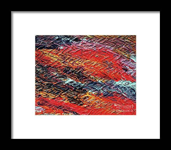 Keith Elliott Framed Print featuring the painting Keelee's Revenge - V1vhkf100 by Keith Elliott