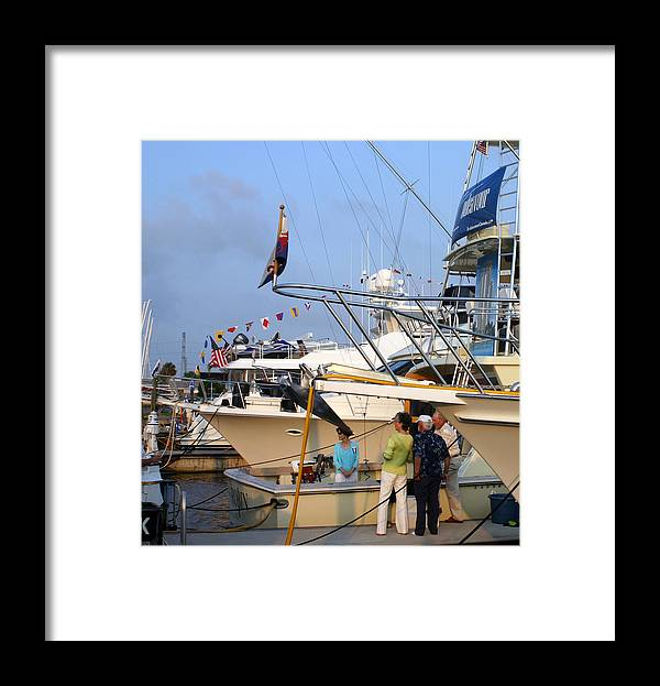 Yacht Portraits Framed Print featuring the photograph Keels And Wheels Yachta Yachta Yachta Yachta by Jack Pumphrey