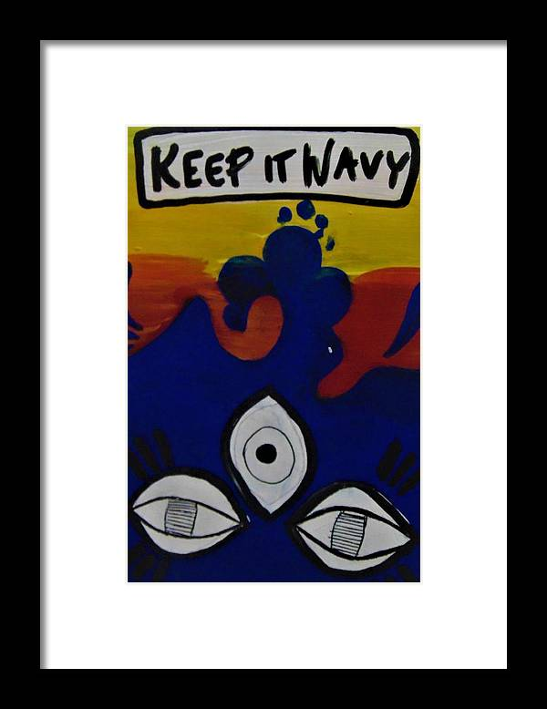 Third Eye Framed Print featuring the painting Keep It Wavy by Kayanna South