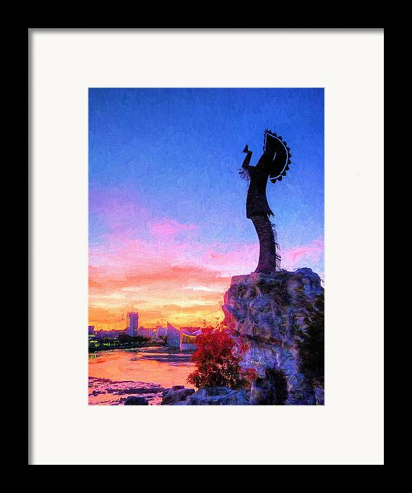 Keeper Of The Plains Framed Print featuring the photograph Keeper Of The Plains by JC Findley