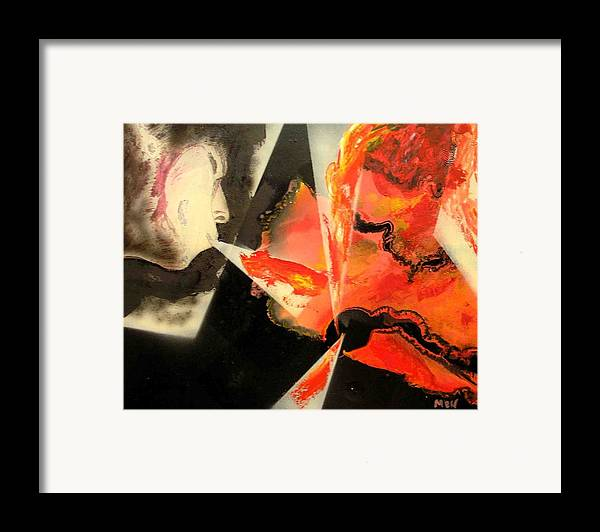 Framed Print featuring the painting Keeping Up A Fire by Evguenia Men