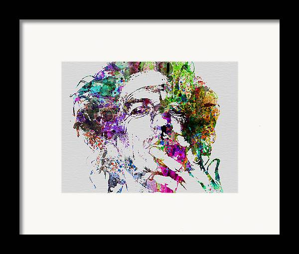 Keith Richards Framed Print featuring the painting Keith Richards by Naxart Studio