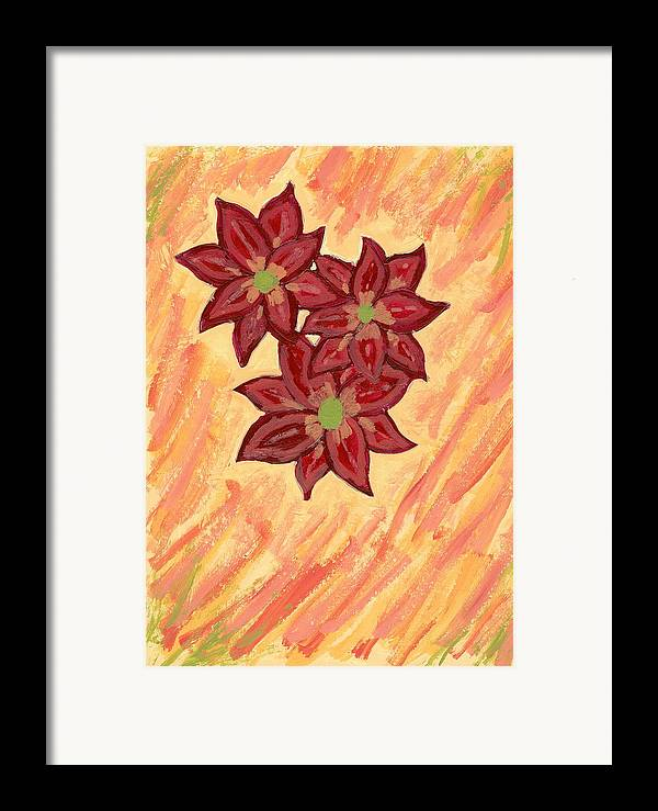 Flower Framed Print featuring the painting Kelli by Laura Lillo