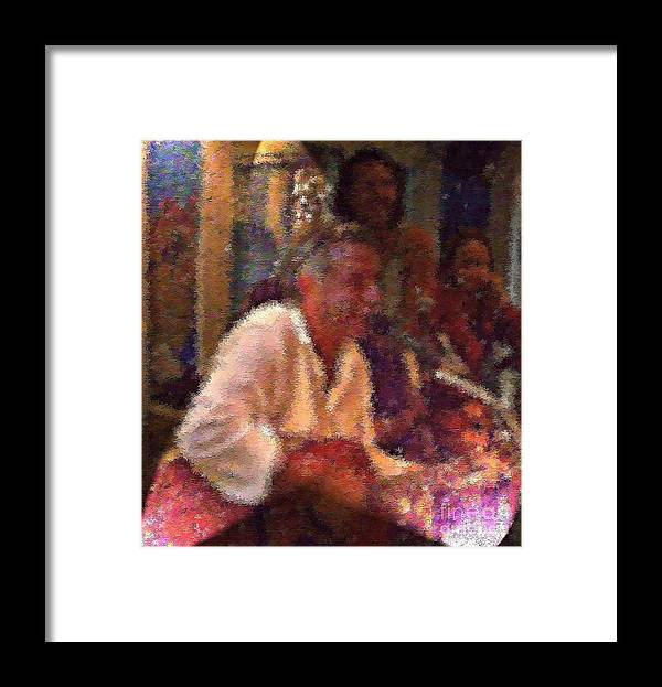 Acoustic Jam Framed Print featuring the photograph Ken dog by Dawn Johansen