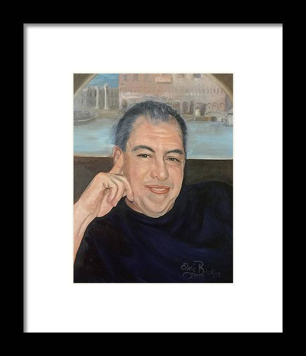 Portrait Framed Print featuring the painting Ken by Elvie Becker