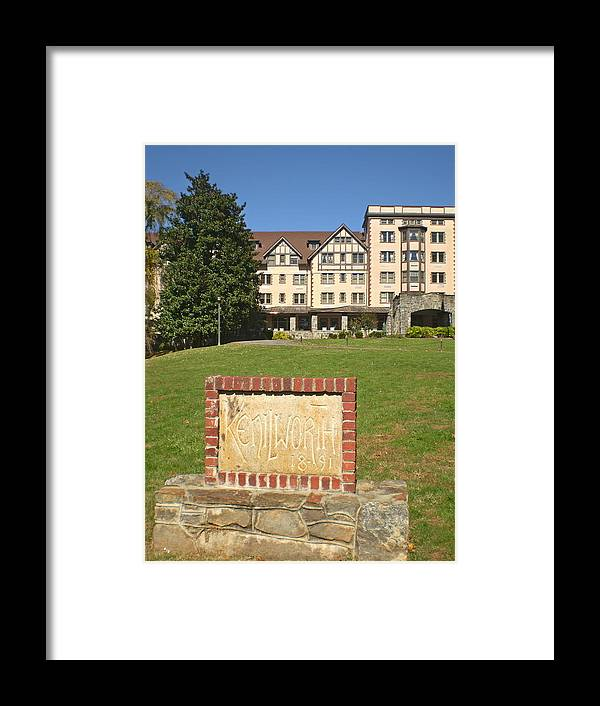 Asheville Framed Print featuring the photograph Kenilworth Inn by Utopia Concepts