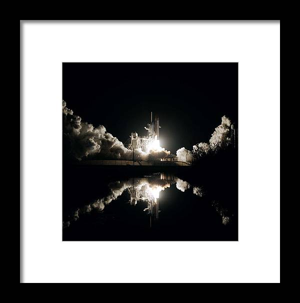 Nature Framed Print featuring the painting Kennedy Space Center, United States By Nasa by Celestial Images
