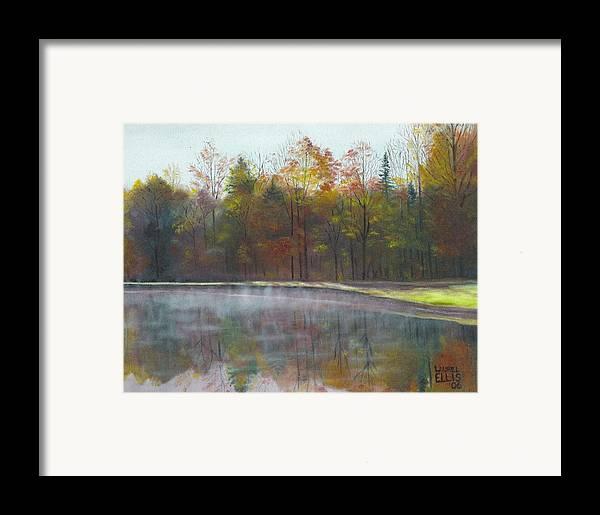 Landscape Framed Print featuring the painting Kennison Pond by Laurel Ellis