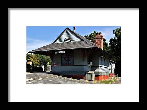 Kensington Train Station Framed Print featuring the photograph Kensington Train Station by Patti Whitten