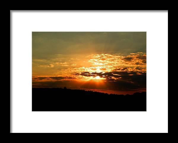 Sunset Framed Print featuring the photograph Kentucky Sunset by Helen ONeal