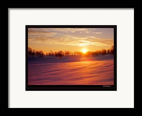 Kentucky Framed Print featuring the photograph Kentucky Winter Sunrise by Keith Bridgman