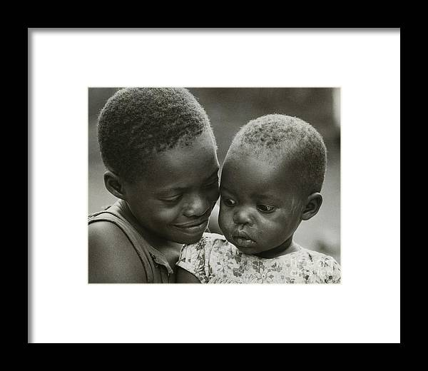 Erik Framed Print featuring the photograph Kenya Sisters by Erik Falkensteen