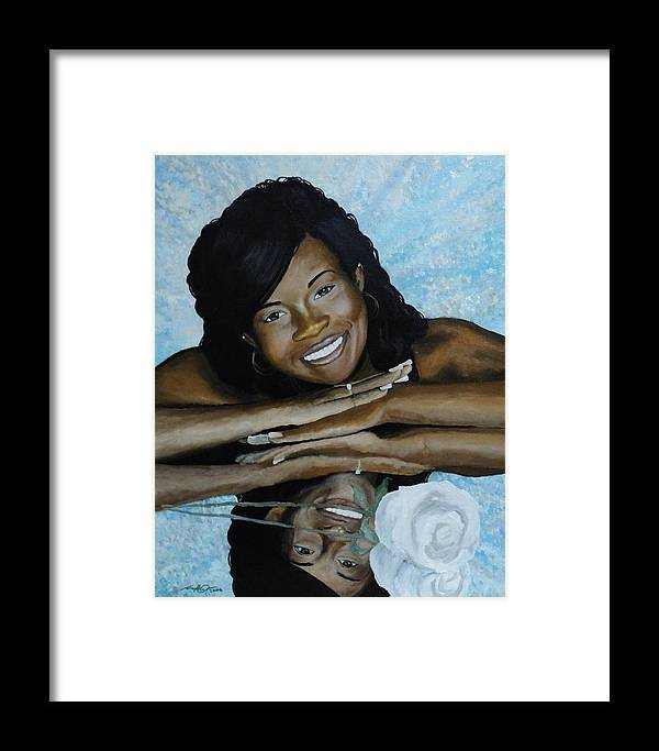 Portrait Framed Print featuring the painting Kera by Angelo Thomas