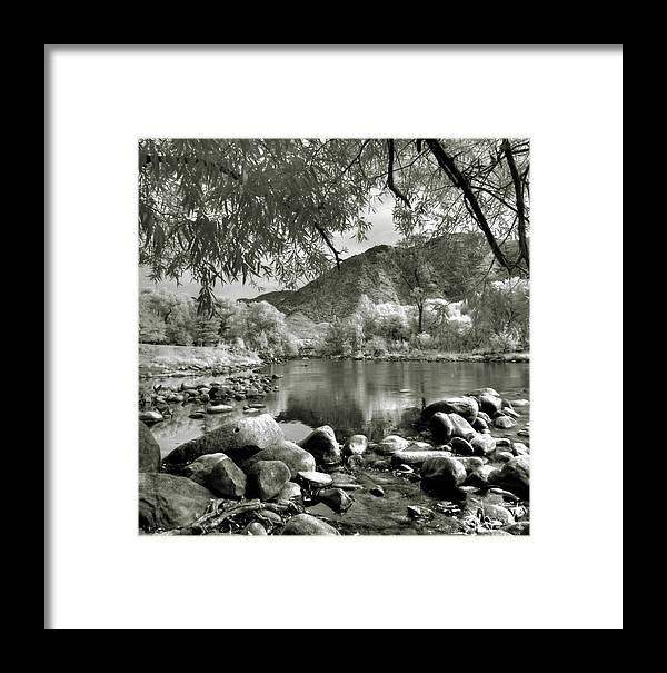 Black And White Framed Print featuring the photograph Kern River Park by Roland Peachie