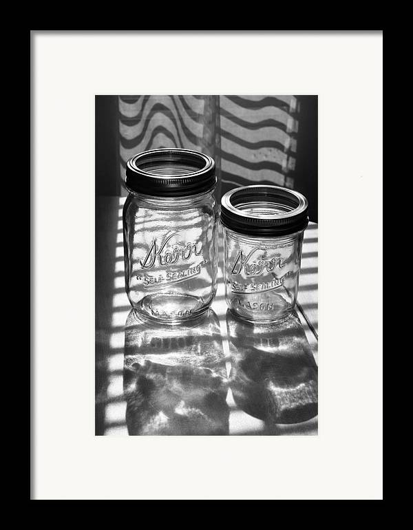 Glass Framed Print featuring the photograph Kerr Jars by Steve Augustin