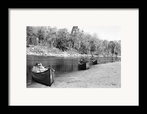 River Framed Print featuring the photograph Kerr Lake Canoes by Steven Crown
