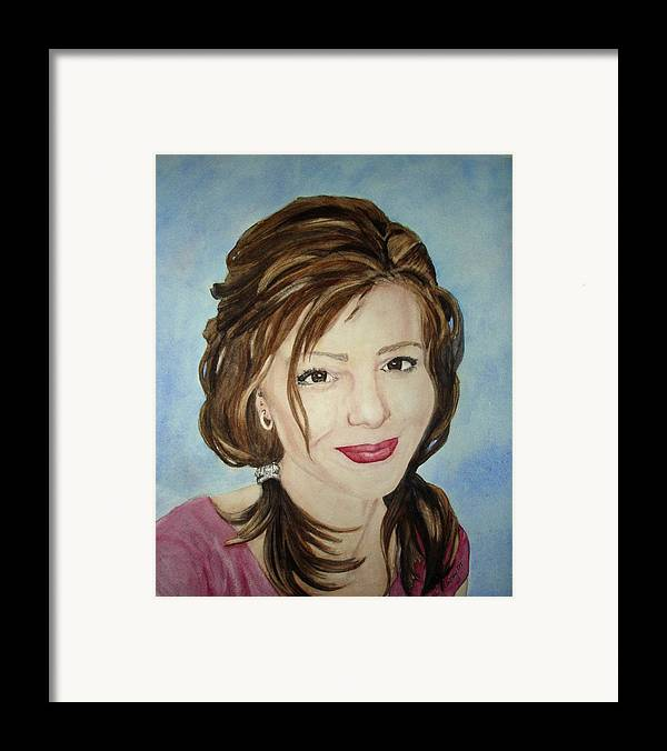 Artist Framed Print featuring the painting Kerra Lindsey Self Portrait by Kerra Lindsey