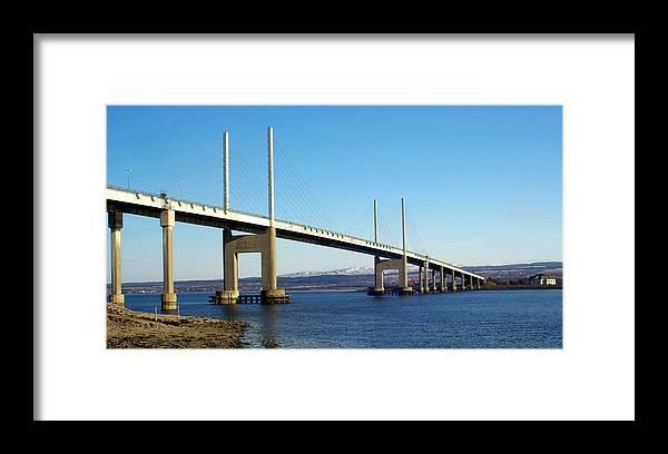 Kessock Bridge Inverness Scotland Highlands Dornoch Firth River Architecture Framed Print featuring the photograph Kessock Bridge Inverness 2 by Iain MacVinish