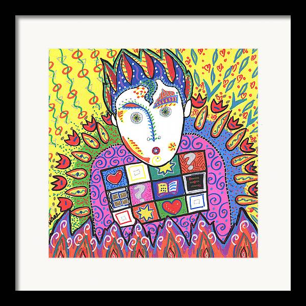 Whimsical Framed Print featuring the painting Kevin by Sharon Nishihara