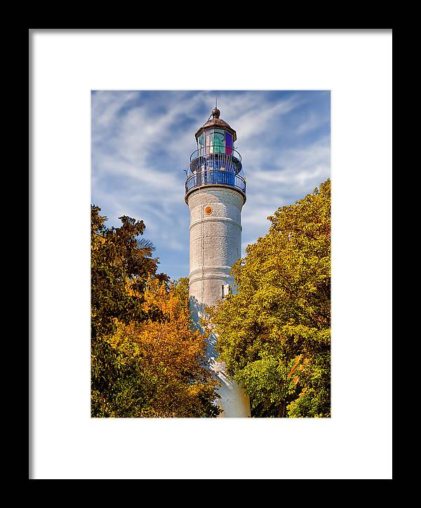 Frank J Benz Framed Print featuring the photograph Key West Lighthouse - 1848 by Frank J Benz