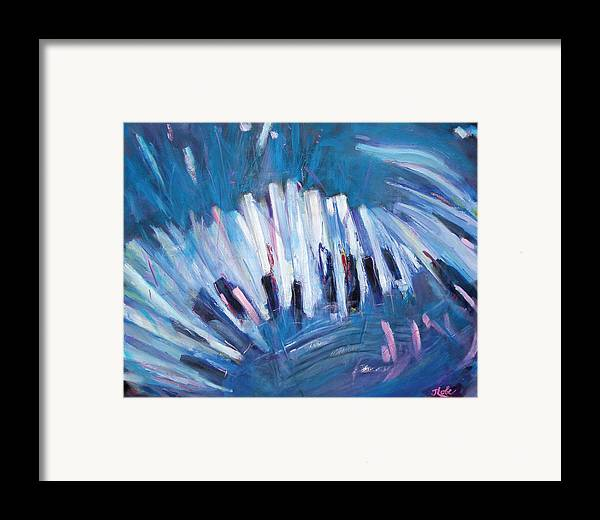 Piano Framed Print featuring the painting Keys by Jude Lobe