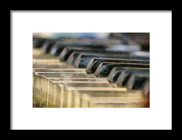 Piano Framed Print featuring the painting Keys To My Heart by Lynne Jenkins