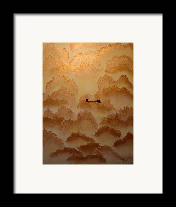 Gold Framed Print featuring the painting Keys To The Kingdom by Laurie Kidd