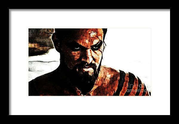 Game Of Thrones Framed Print featuring the digital art Khal Drogo by The DigArtisT