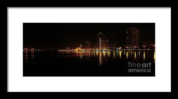 Architecture Framed Print featuring the photograph Khaled Lagoon by Hussein Kefel