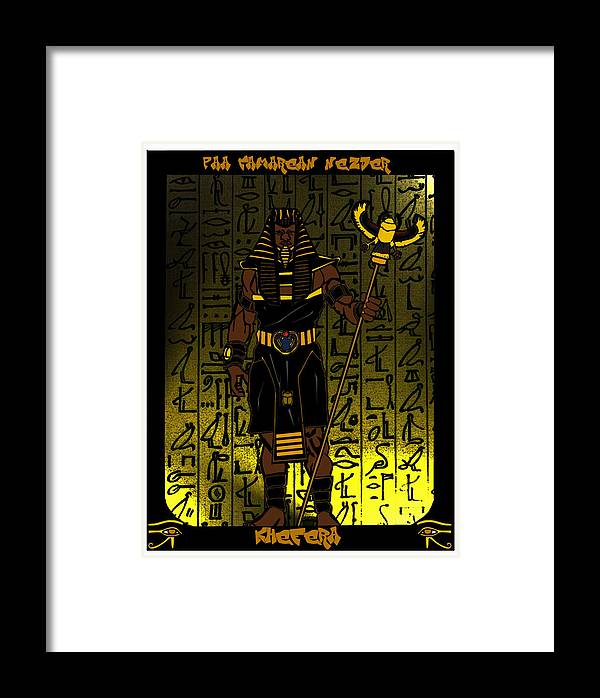 Khepri Framed Print featuring the digital art Khefera by Derrick Colter