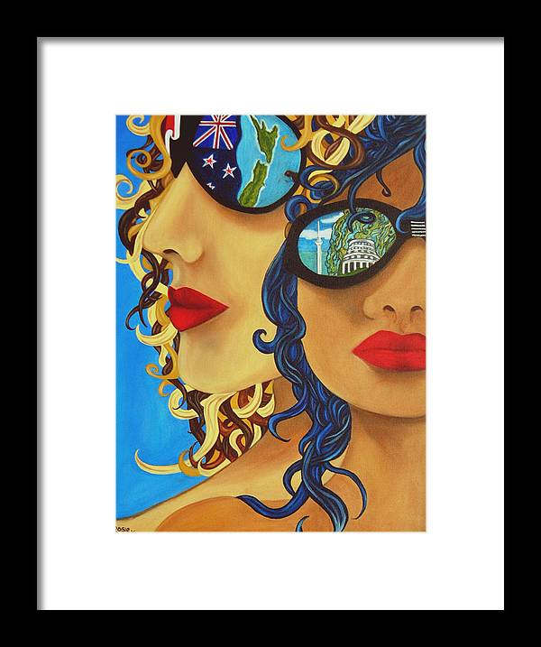 New Zealand Framed Print featuring the painting Kia Ora by Rosie Harper
