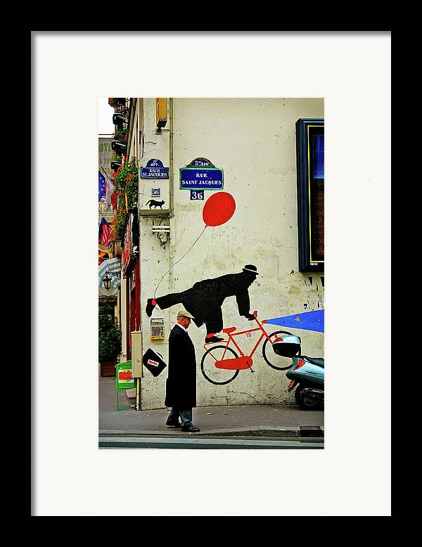 Paris Framed Print featuring the photograph Kick In The Head by Skip Hunt