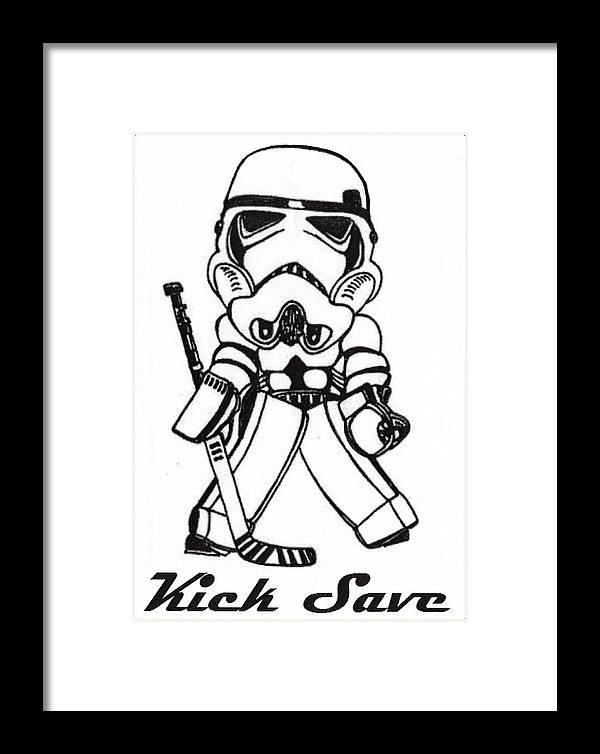 Kick Save Goalie Framed Print